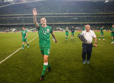 Declan Rice playing for Ireland in 2018, before he jumped ship and declared for England.