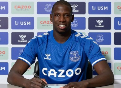 Abdoulaye Doucoure signing on with the Toffees.