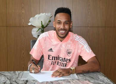 Aubameyang signs a new deal.