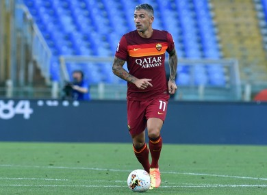 Aleksandar Kolarov in action for Roma earlier this year.