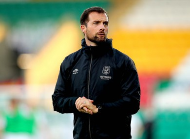 Rockett was in the dugout for Monday's defeat to leaders Shamrock Rovers.