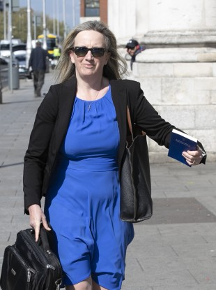 File photo of Gemma O'Doherty arriving at the Four Courts in Dublin in May.