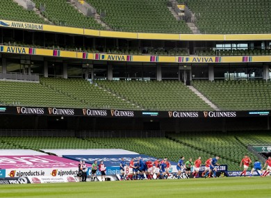 The Aviva Stadium.