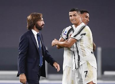 Winning start: Pirlo, left, and Ronaldo, right.