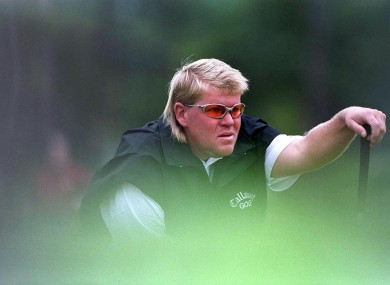 Daly in action at the 1999 Irish Open in Druids Glen.