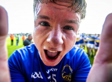 Maghery Sean McDermotts' Kevin Robinson celebrates after the game.