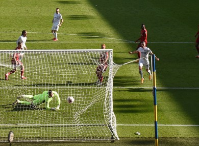 Leeds' Helder Costa scores his side's fourth goal.