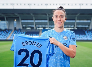 Lucy Bronze is back at Manchester City.