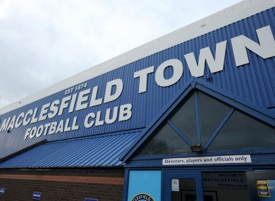 Macclesfield's home ground, Moss Rose.