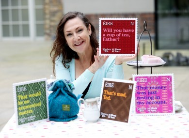 Pauline McLynn (Mrs Doyle) launched the stamps last month.
