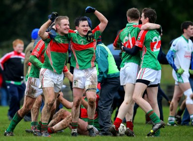 Loughmore-Castleiney are hoping to replicate celebrations like this 2014 football final win.