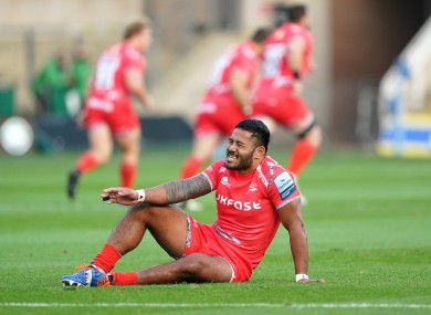 Manu Tuilagi (pictured) and Courtney Lawes were both substituted.