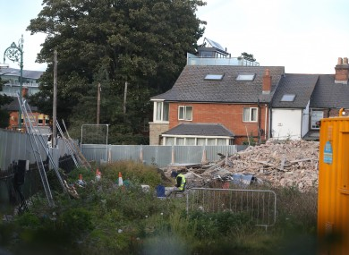 The site following the house's demolition.
