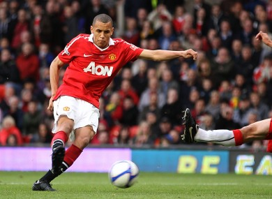 Ravel Morisson scores for Man United in a FA Youth Cup game in 2011.