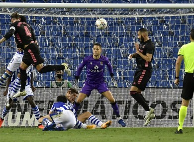 Real Madrid were held to a goalless draw in the first match of their La Liga title defence.