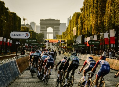 A file pic of yesterday's final stage of the Tour De France.