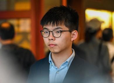 Pro-democracy activist Johsua Wong