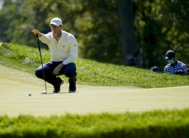 Rory McIlroy in action at the US Open.