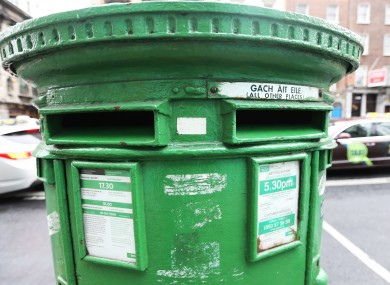 File photo of a post box in Dublin city.