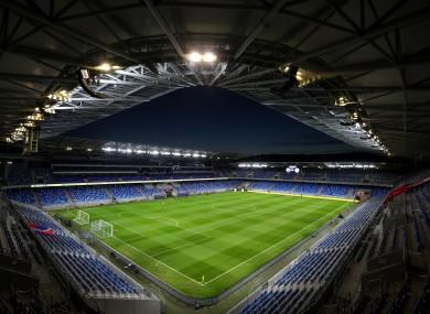 A view of the stadium in Bratislava.