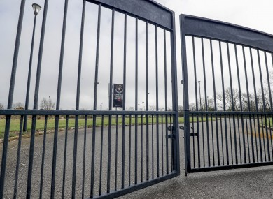 The gates at Ferrycarrig Park.