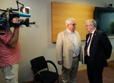 Chief Justice of Ireland Justice Frank Clarke (left) with Seamus Woulfe