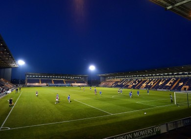 A view of Jobserve Community Stadium, the home of League Two club Colchester United.
