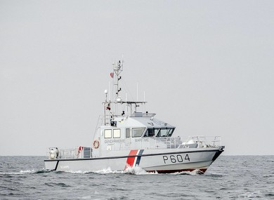 File image of a French patrol boat.