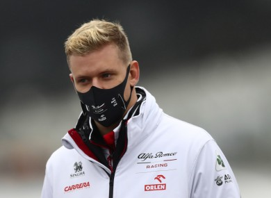 Mick Schumacher had been set to drive on Friday morning.