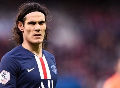 Edinson Cavani left PSG at the end of June.