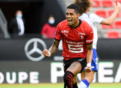 Raphinha arrives from Ligue 1 side Rennes.