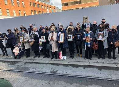 Families outside court today.