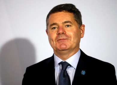 Finance Minister Paschal Donohoe.