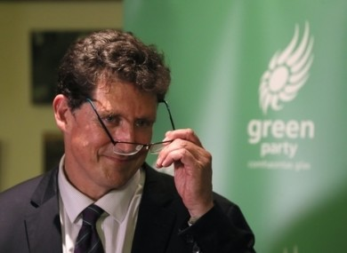 Green Party leader Eamon Ryan addressed his party at a virtual national convention.