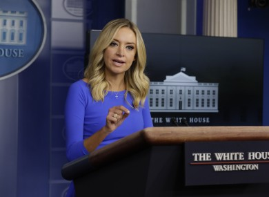 File image of Kayleigh McEnany speaking in the White House press briefing room.