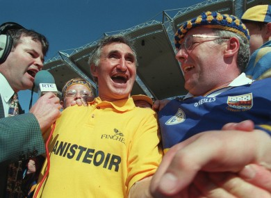 Gaynor, centre, celebrates after steering Tipp to the 1997 All-Ireland final.