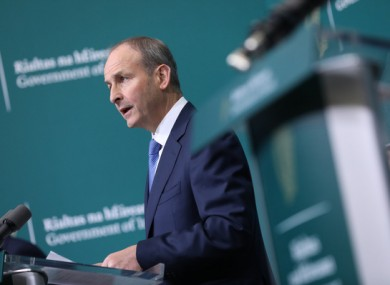 Taoiseach Micheál Martin was responding to speculation about a circuit break-type lockdown.