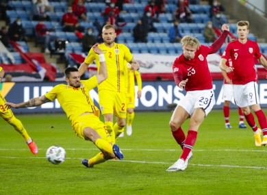 Erling Haaland notching one of his three goals.
