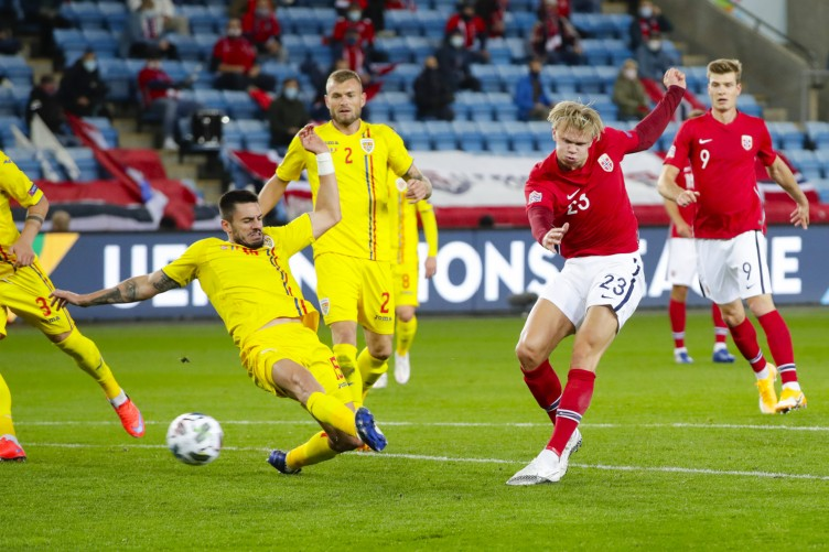 Haaland Bags His First Hat Trick For Norway The42