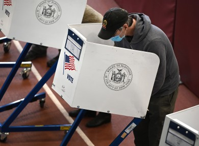 A voter filling out his ballot last week for the 2020 United States presidential election.