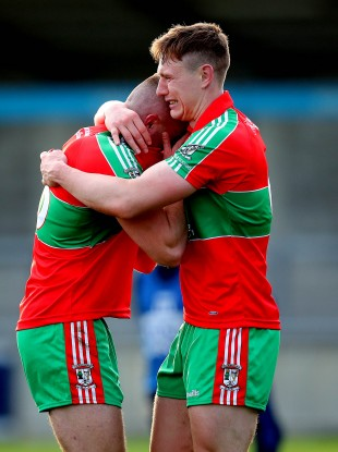 The Small brothers were overcome with emotion at the full-time whistle.