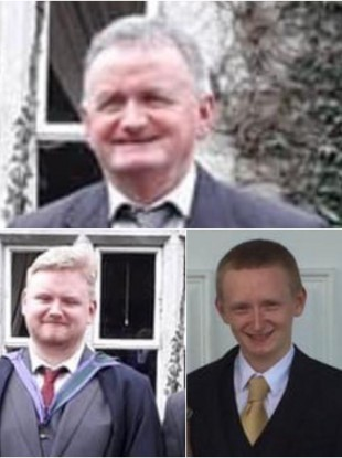 Tadg O'Sullivan and his sons Mark and Diarmuid were found dead on Monday
