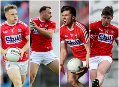 O'Donovan, Sheehan, Clancy and Crowley all out injured for Cork.