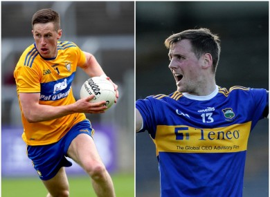 Clare's Eoin Cleary and Tipperary's Conor Sweeney hit crucial scores today.