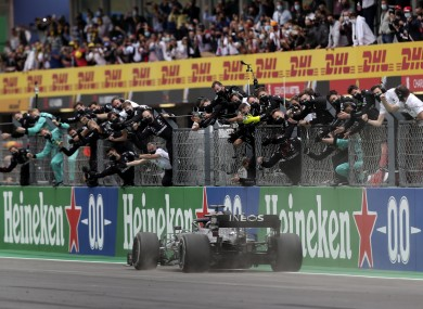 Hamilton is on the brink of a seventh F1 world championship.