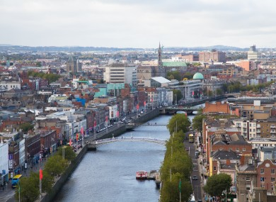 Overview of Dublin city.