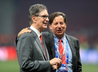 John Henry and Tom Werner, Liverpool's owner and chairman respectively.