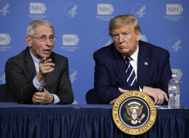 Dr Fauci is critical of the advert, but the Trump campaign defended using the clip