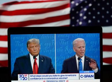 Trump and Biden at last night's debate.