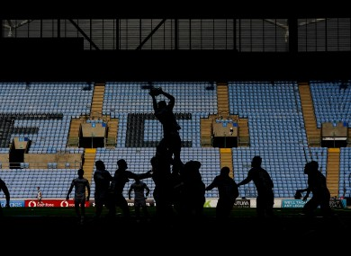 A line-out is contested during last Saturday's Premiership semi-final between Wasps and Bristol.